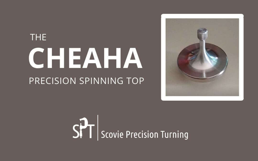 Cheaha — a sleek new precision balanced spinning top from Scovie Precision Turning