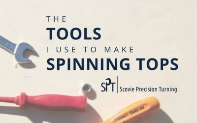 The tools I use to make spinning tops
